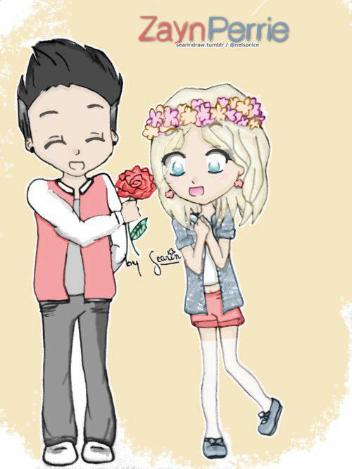 cartoon of Zayn Malik and Pierre