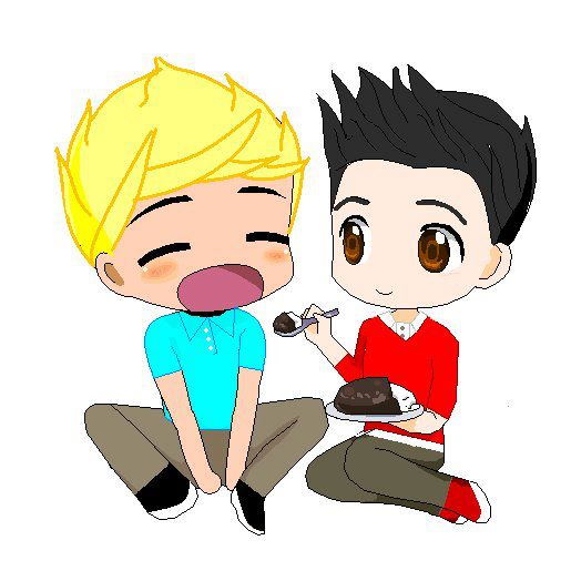 cartoon of Zayn and Niall (one direction)