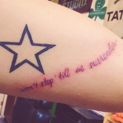 Zayn Malik's tatto