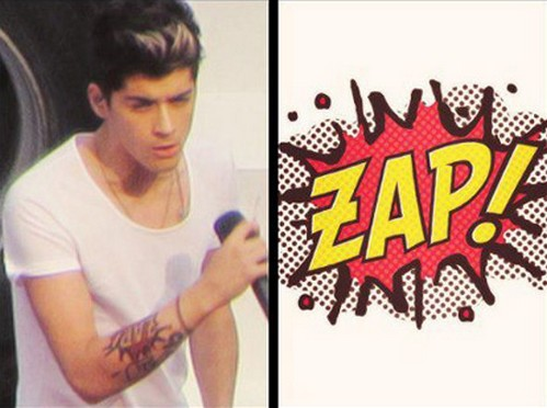 ZAP the new Zayn Malik's Tatto