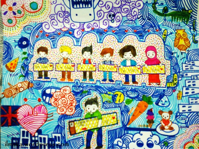 me and one direction doodle