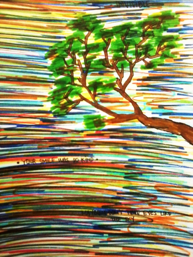 Tree with Colorful sky